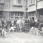 A hunting party gets ready to set off from Packhorse Inn