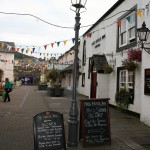 Paved shopping area in Keswick