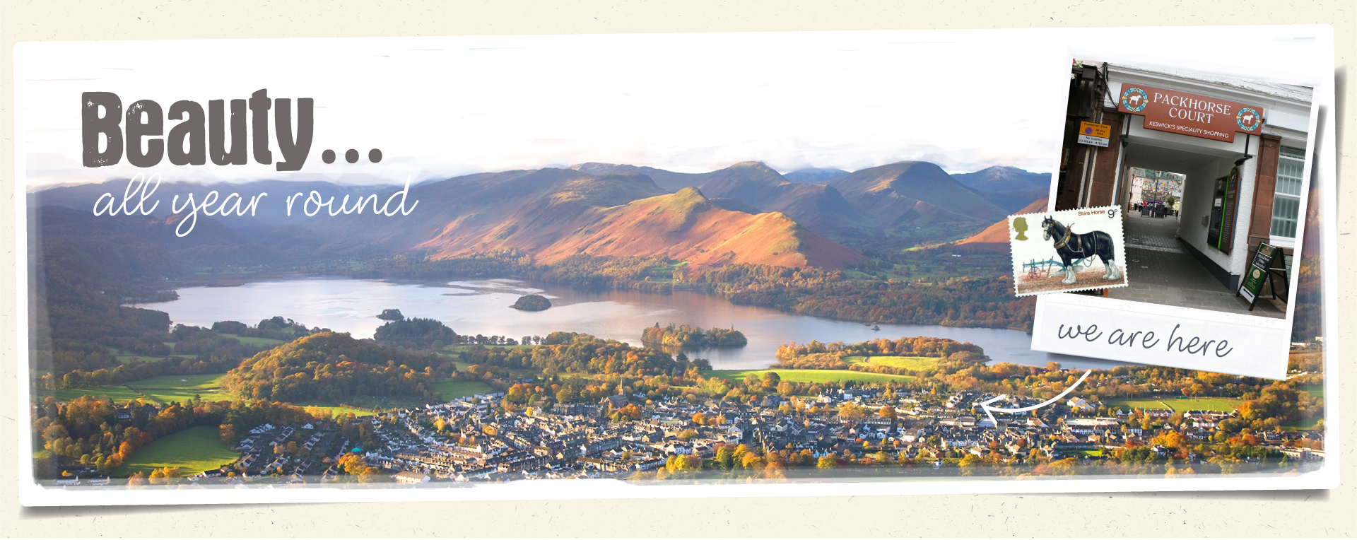 Our shopping destination is located in beautiful Keswick