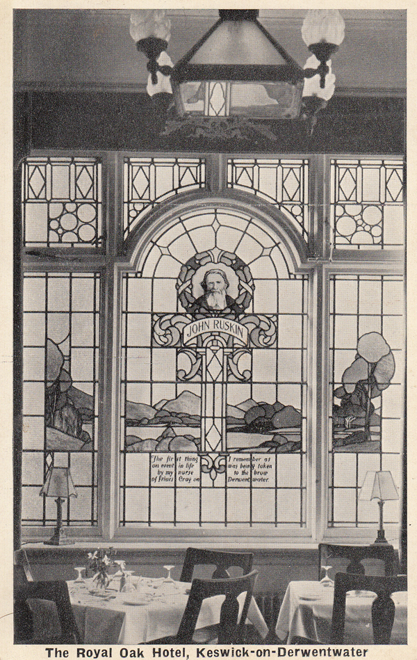 A historic image of Packhorse's stained glass window - still present today!